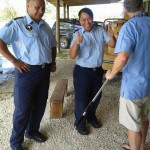 Training the local police with the pole